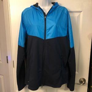 Nike running dri-fit zip up jacket blue 2-tone